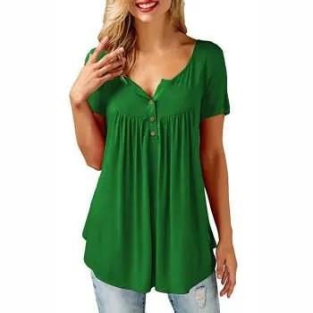 Womens Shirts Casual Tee Shirts Short SleeveLoose Fits Tunic Tops Blouses