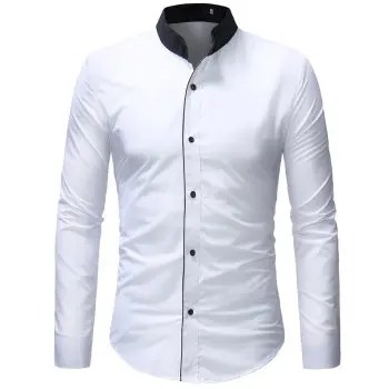 New Fashion Colour Collar Men s Recreational Sleeve Shirt