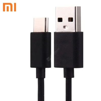 Gearbest Original Xiaomi USB Type-C Charge and Sync Cable 1.15m - BLACK USB 2.0 Interface