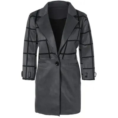 Grid One Coat Breasted