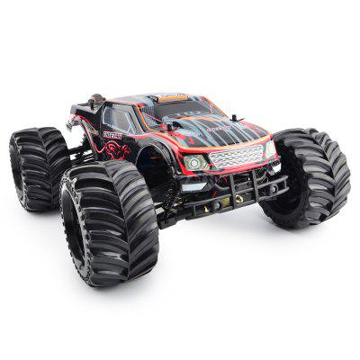 Gearbest JLB Cheetah 1:10 2.4GHz 4WD RC Racing Car - RTR - RED WITH BLACK 70 - 80km/h / 80A Waterproof Brushless ESC / Wheelie