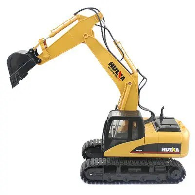 HUINA 1550 1:14 2.4GHz 15CH RC Alloy Excavator - RTR - YELLOW