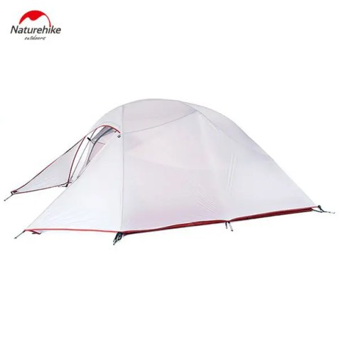 Gearbest Naturehike Professional 20D 380T Silicone Camping Ultraviolet - proof Waterproof Tent for 3 - 4 Persons - LIGHT GRAY