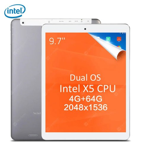 Gearbest Teclast X98 Plus II 2 in 1 Tablet PC - GRAY INTEL CHERRY TRAIL X5 Z8350 Windows 10 + Android 5.1 IPS Retina Screen Dual Cameras