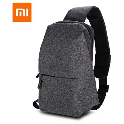 Gearbest Original Xiaomi Sling Bag - DEEP GRAY 4L / Polyester / Leisure Sports Style
