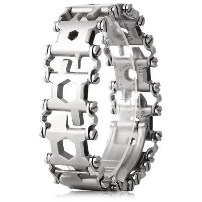 Gearbest Wearable Stainless Steel Multi-tool - SILVER with 29 Kinds of Function / Travel Friendly