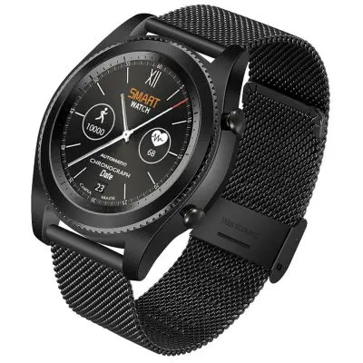 NO.1 S9 Heart Rate Smartwatch - STEEL BAND