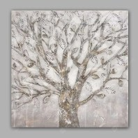 Happy Art Canvas Oil Painting Abstract Tree Hand Painted Home Decor