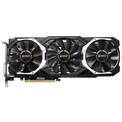 Gearbest Yeston RX580 GPU 4G 256bit DDR5 Graphics Card - BLACK 4G 7000MHz Support DP / HDMI / DVI PCI-E 3.0