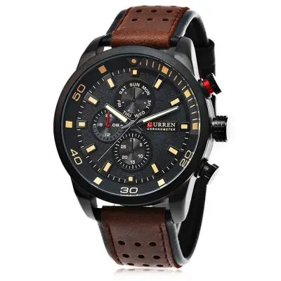 Gearbest CURREN 8250 Casual Men Quartz Watch