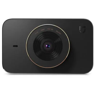 Gearbest Xiaomi Mijia 1080P Car DVR Camera - BLACK 160 Degree Wide Angle / WiFi Connection / Parking Monitoring / Loop-cycle Recording