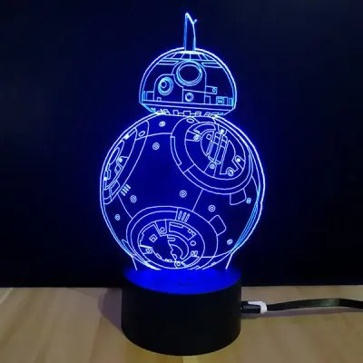 Gearbest M.Sparkling 3D Creative Colorful USB Powered Night Lamp