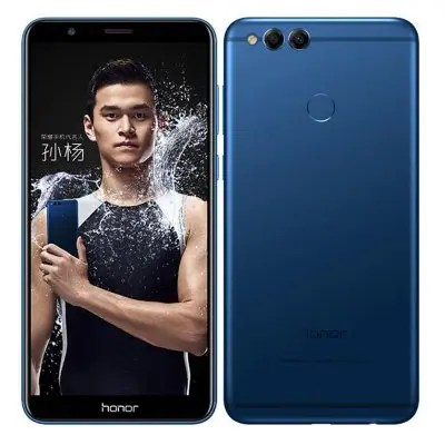 Huawei Honor 7X 4GB RAM 32GB ROM Fingerprint Scanner 4G Blue Color Phablet