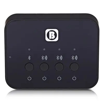Gearbest BW - 107 Wireless Bluetooth Audio Sharing Transmitter - BLACK 1 Way Input with 3 Ways Output