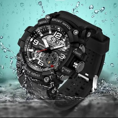 Sanda 759 Three-pin 5309 Fashion Night Light Shows Double-core Men's Watch