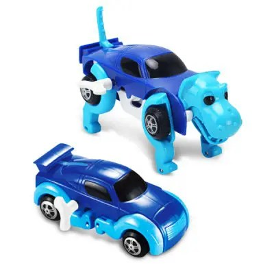 Wind-up Deformable Car Dog Kid Toy