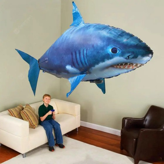 Gearbest Remote Control Flying Shark DIY - BLUE 162 X 78CM Party Family Fun Toy