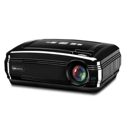 Gearbest Alfawise X 3200 Lumens HD 1080P Smart Projector Support 4K - ANDROID VERSION ( EU PLUG ) BLACK Dual Band WiFi Multimedia LED for Home Theater