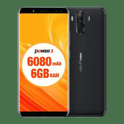 Ulefone Power 3 4G Phablet ulefone power 3 in oferta gearbest, ecran 18:9 si 6080 mah