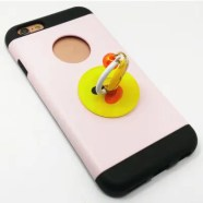 PC Universal Mobile Phone Finger Stand Small Yellow Duck Pattern for iPhone 6 / 6s / 7 / 8