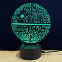 M.Sparkling Creative 3D Lamp Star Wars The Death Star Shape Table Lamp