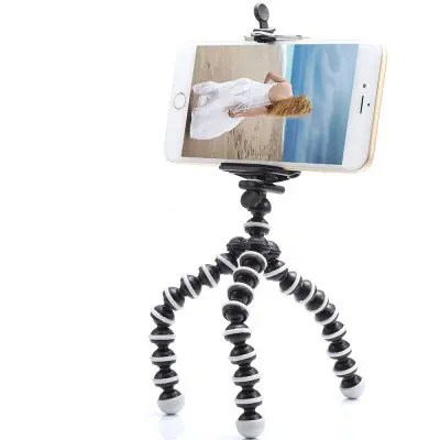 gocomma Small Light Universal Tripod Mount Phone Holder for Smart Phones - BLACK