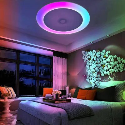 Gearbest X816Y - 48W - LY - YXAA Music Color Changing Ceiling Light, Smart Bluetooth APP AC 220V