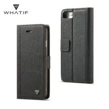 WHATIF for iPhone 7/ 8 DIY Flip Stand Wallet Phone Case with Removable Cover