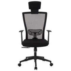 Office Chair With Headrest Upholstery Wingback Langria Ergonomic High Back Mesh Executive Computer Lumbar Support