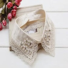 Lace Beaded Choker Collar Necklace Fake Collar Chain