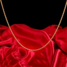 Long Gold Color Man Necklace 4mm 18 20 inch Twist Rope Chain Jewelry Accesory