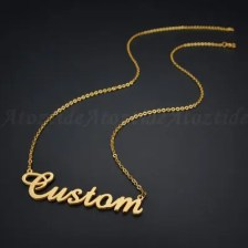 Custom Fashion Stainless Steel Name Necklace Personalized Letter Gold Choker Necklace Pendant