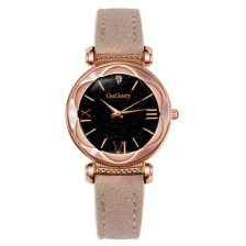 Personality Romantic Starry Sky Wristwatch Luxury Surface Leather Strap Ladies Watch