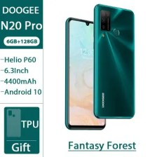 DOOGEE N20 Pro Quad Camera Mobile Phones Helio P60 Octa Core 6GB RAM 128GB ROM Global Version 6.3 inch FHD+ Android 10 OS Smartphone