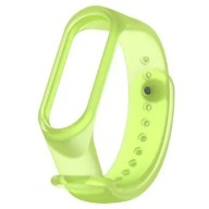 6 Colors Transparent Smart Bracelet for Xiaomi Mi Band 3 4 Bracelet Strap Silicon TPU Sport Strap WristBand Replacement Bracelet