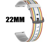 22mm 20mm Sport Stripes Band for Samsung Gear Sport S2 S3 Galaxy Watch Active 42mm 46mm Silicone Strap for Huami Pebble Time Huawei gt 2