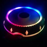 UFO Cooler Computer CPU Cooler RGB Color Changing Computer Cooling Fan 115X AMD