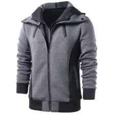 Color Block Faux Twinset Hoodie