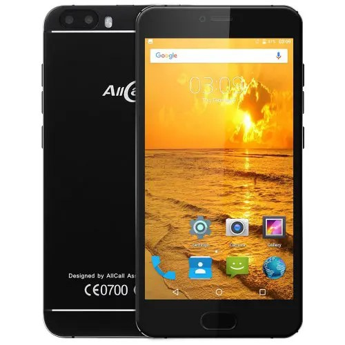 AllCall Bro 3G Smartphone - BLACK Android 7.0 Dual Rear Cameras Full Metal Body