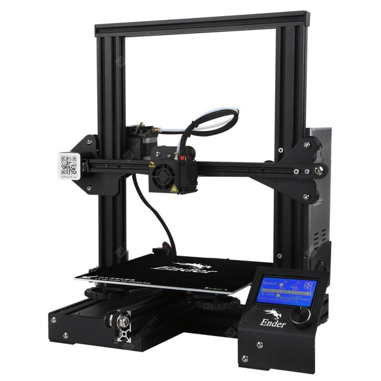 Creality 3D Ender-3 V-slot Prusa I3 DIY 3D Printer Kit 220 x 220 x 250mm Printing Size - Black EU Plug - 126.83€