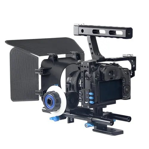 DSLR Camera Rig Cage Set 15mm Rod with Matte Box