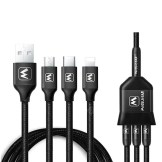 3 in 1 Type-C / 8 Pin / Micro USB Charging Cable