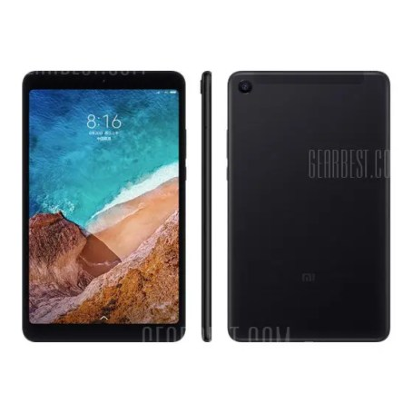 Gearbest Xiaomi Mi Pad 4 Tablet PC 3GB + 32GB - BLACK 8.0 inch MIUI 9 Qualcomm Snapdragon 660
