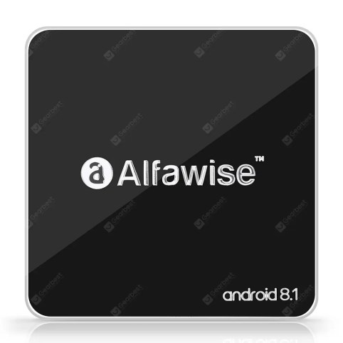 Gearbest Alfawise A8 TV BOX Rockchip 3229 Android 8.1 - BLACK EU PLUG 2GB RAM + 16GB ROM 2.4G WiFi 100Mbps Support 4K H.265