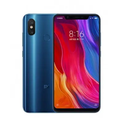 Gearbest Xiaomi Mi 8 4G Phablet International Version - BLUE 6GB RAM 128GB ROM Fingerprint Recognition
