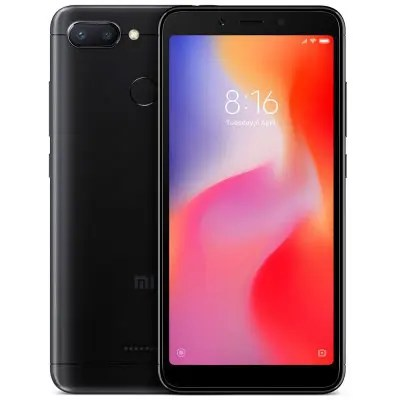 Gearbest Xiaomi Redmi 6 4G Smartphone Global Edition - BLACK 3GB RAM 32GB ROM 12.0MP + 5.0MP Rear Camera Fingerprint Sensor
