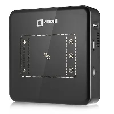 Gearbest AODIN D013 Smart Portable Projector 150ANSI Lumens 500:1 - BLACK