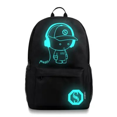Gearbest Waterproof Outdoor Backpack for Holding Stuff - BLACK WITHOUT ANTI-THEFT LOCK
