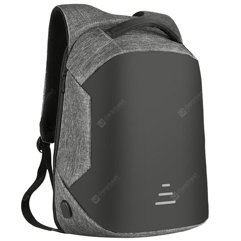 Gearbest SWEETTOURIST Men Business Durable Anti-theft Backpack - SLATE GRAY