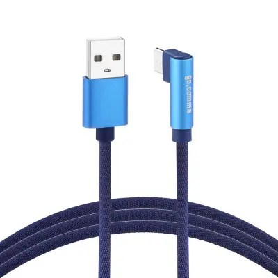 Gocomma TypeC Jeans Braided 2A USB Cable 1m COBALT BLUE